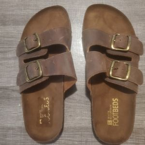 White Mountain Footbeds 2 strap leather 9